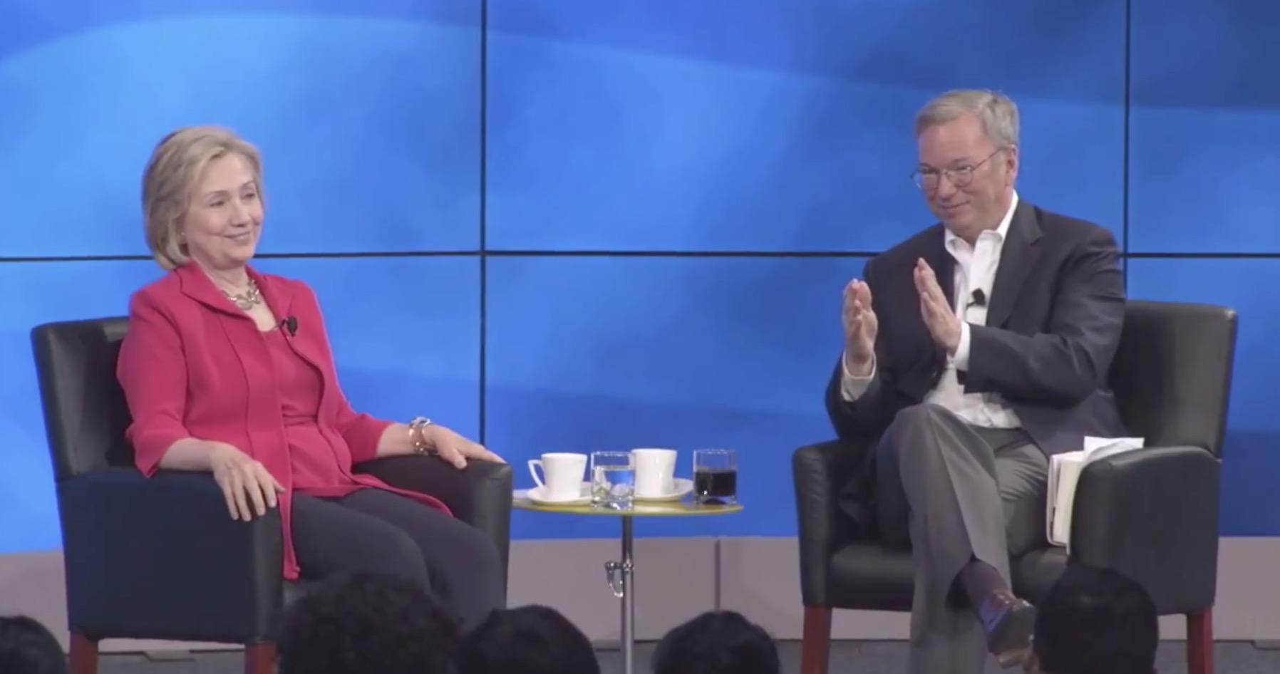 Эрик Шмидт & amp;  Хиллари Клинтон