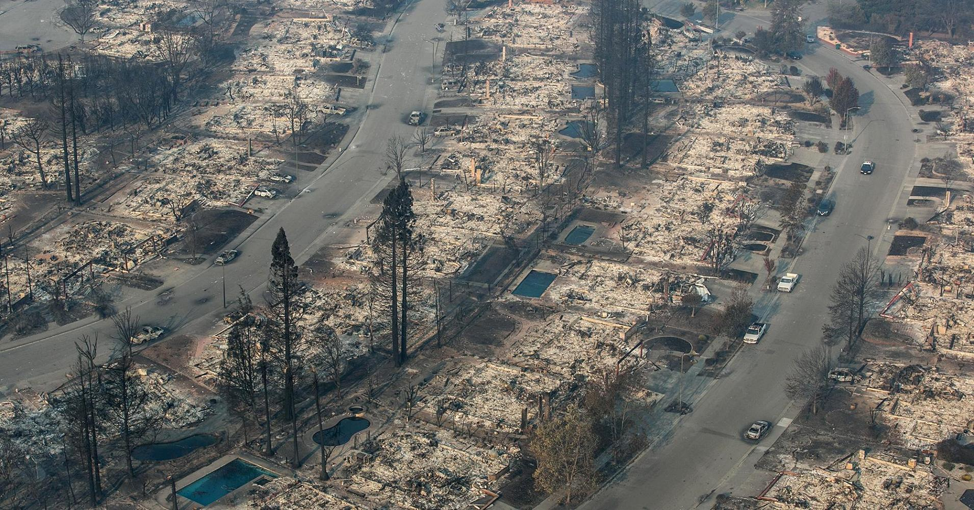 Damage from California wildfires