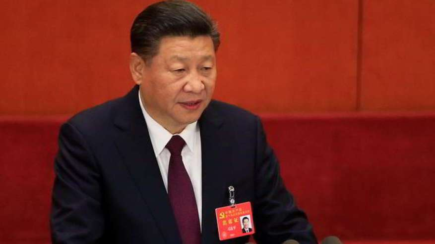 Xi Jinping addressing the Chinese Communist Party Congress