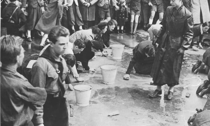 Jews humiliated by Nazis
